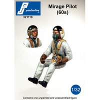 PJ Productions Mirage IIIC pilot (60s) seated in aircraft Figure 1:32 (PJP321119)