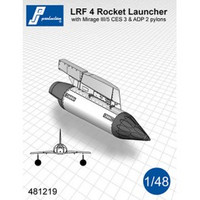 PJ Productions LRF 4 Rocket Launcher with pylon for Mirage III/5 Accessories 1:48 (PJP481219)