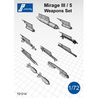 PJ Productions Mirage III/5 Weapons set Accessories 1:72 (PJP721214)