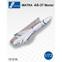 PJ Productions MATRA AS-37 Martel missile + pylon (dtbu with Mirage IIIE, Jaguar) Accessories 1:72 (PJP721216)