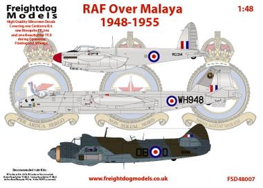 Freightdog RAF Over Malaya 1948-1955 Decals 1:48