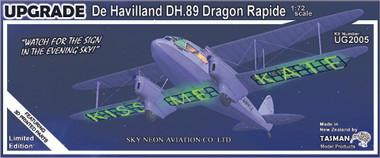 Tasman DH89A Dragon Rapide Sky Neon Kit Collectors Edition 1:72