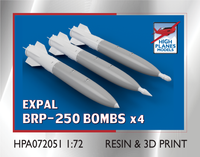 High Planes EXPAL BRP-250 Bombs x 4 Accessories 1:72 (HPA072051)