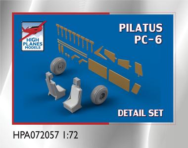 High Planes Pilatus PC-6 Turbo Porter Detail Set Accessories 1:72
