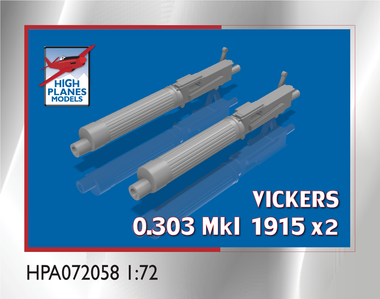 High Planes Vickers 0.303 Mk 1915 Gun x 2 Accessories 1:72 (HPA072058)