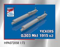 High Planes Vickers 0.303 Mk 1915 Gun x 2 Accessories 1:72 (HPA072058)