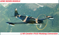 Kiwi Resins Cavalier Mustang conversion 1/48 (KWR048003)