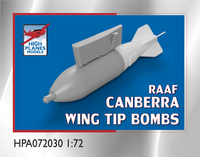 High Planes GAF Canberra Mk20 wingtip bomb racks & 500lb + M117 bombs (Accessories 1:72)