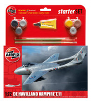Airfix A55204 De Havilland Vampire T11 Starter Set 1:72 Scale Model Kit
