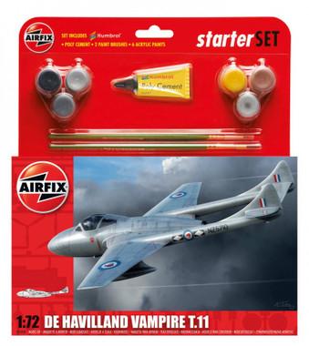 Airfix A55204 De Havilland Vampire T11 Starter Set 1:72 Scale Model Kit