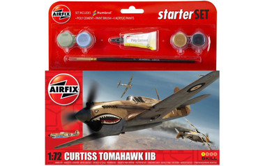 Airfix A55101 Curtiss Tomahawk IIB Starter Set 1:72 Scale Model Kit