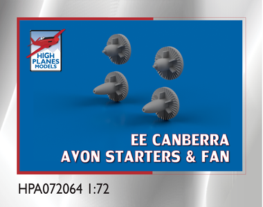 High Planes EE Canberra Avon Starters and Fan Accessories 1:72 (HPA072064)