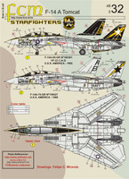 FCM F-14A Tomcat - VF-33 Starfighters Decals 1:48