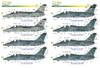 FCM Aermacchi AMX / Alenia Embraer A-1A / A-1B / A-1M Decals 1:48 (FCD048048)