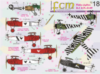 "FCM WWI Fokker DR.I, D.II, D.VII ""Great War"" Decals 1:72 (FCD072018)"
