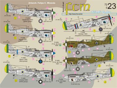 FCM P-40 1o/14o G.Av Brazil P-40K/M/N Decals 1:72 (FCD072023)