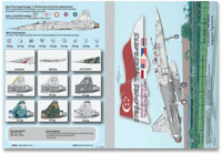 MILIVERSE MV-48002-1 RSAF F-20A/B/S/T, RF-20A/S Singapore Tigersharks 1:48 Decals (MV-48002-1)