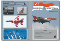 MILIVERSE MV-48004-1 RSAF F-16C RSAF Black Knights 2014 1:48 Decals