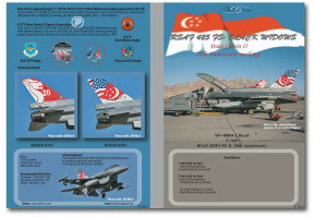 MILIVERSE MV-48004-2 F-16D RSAF 425FS PC II- 20TH ANNIVERSARY 1:48 Decals (MV-48004-2)