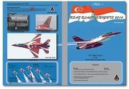 MILIVERSE MV-72004-1 RSAF F-16C Falcon Singapore Black Knights 2014 1:72 DECAL (MV-72004-1)