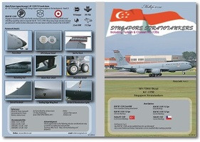 MILIVERSE MV-72011 RSAF KC-135R Stratotankers Singapore Turkey Chile 1:72 DECAL