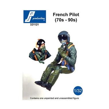 PJ Productions French Pilot seated in aircraft (70s-90s) Figure 1:32 (PJP321121)