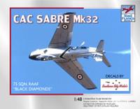 High Planes CAC 'Avon' Sabre Black Diamonds 75 Squadron