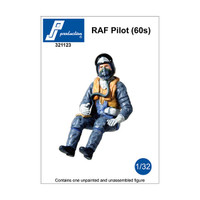 PJ Productions RAF Pilot seated in aircraft 1960s Figure 1:32 (PJP321123)