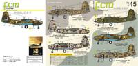 FCM Douglas A-20 B / C / J USAAF, SAAF, FAB Decals 1:72