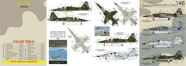 FCM F-5B/E/F Forca Aerea Brasileria Brazilian Tigers Decals 1:72