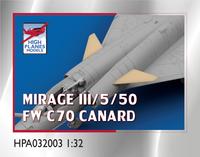 High Planes Dassault Mirage FW C70 Canard Accessories 1:32 (HPA032003
