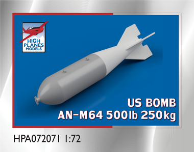 US AN-M64A1 500lb (250kg) BOMB M128 FIN x 4 (Accessories 1:72) (HPA072071)