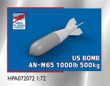 US AN-M65A1 1000lb/500kg BOMB M129 FIN x 4 (Accessories 1:72)