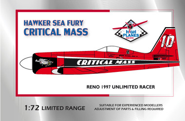 High Planes Racer Hawker Sea Fury Critical Mass