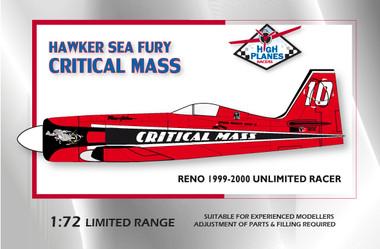 High Planes Racer Sea Fury Critical Mass Reno 1999 2000