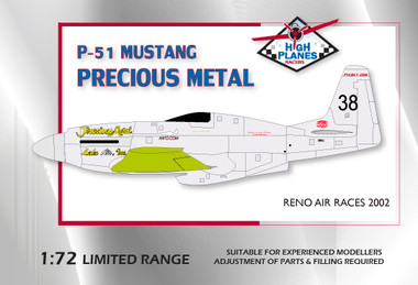 "High Planes North American Griffon Mustang Racer ""Precious Metal"" Lake Air 1992"
