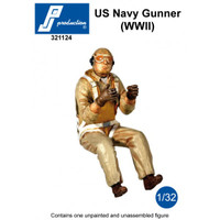 PJ Productions US Navy WW2 Gunner seated in aircraft Figure 1:32 (PJP321124)