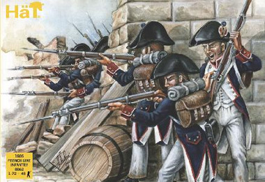 HaT 8062 Napoleonic 1805 French Line Infantry Figures 1:72 Scale