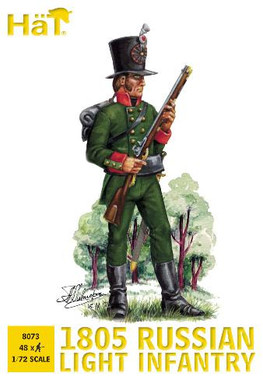 HaT 8073 Napoleonic 1805 Russian Light Infantry Figures 1:72 Scale
