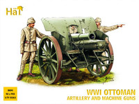 HaT 8094 WWI Ottoman Artillery and Machine Guns  Figures 1:72 Scale