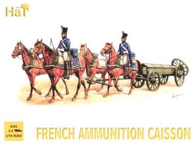 HaT 8101 Napoleonic French Ammunition Caisson Figures 1:72 Scale