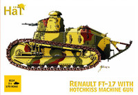 HaT 8114 FT-17 Renault with Hotchkiss mg  Figures 1:72 Scale