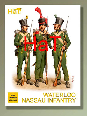 HaT 8147 Napoleonic Waterloo Nassau Line Infantry  Figures 1:72 Scale