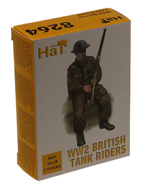HaT 8264 WW2 British Tank Riders  Figures 1:72 Scale