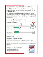 High Planes RAF Rockets & Rails x 8 for Typhoon etc