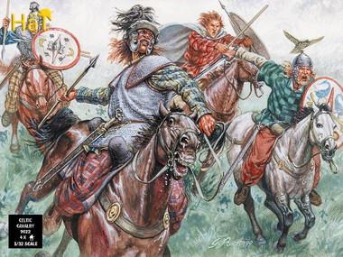 HaT 9022 Gallic Cavalry (BB) Figures 1:32 Scale