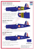 High Planes Chance Vought F4U-7 Corsair detail set
