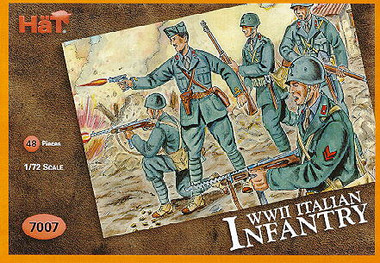HaT 7007 WWII Italian Infantry Figures 1:72 Scale