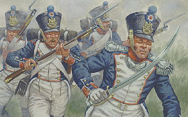 aT 7008 Waterloo French Infantry Figures 1:72 Scale (HAT07008)