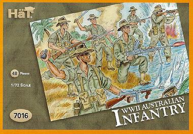 HaT 7016 WWII Australian Infantry Figures 1:72 Scale